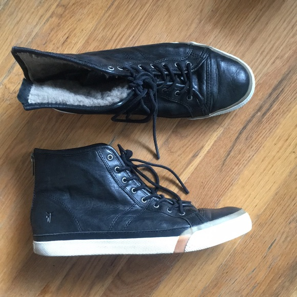 High Leather Women's Top Sneakers Frye cAqjL435R